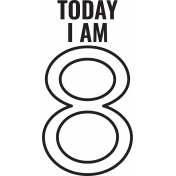 Make A Wish Stamps- Today I Am Kit- 8 Template