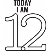 Make A Wish Stamps- Today I Am Kit- 12 Template