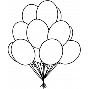 Make A Wish Stamps Kit- balloons 1 stamp template