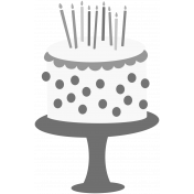 Make A Wish Stamps Kit- cake layered template