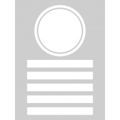 Pocket Cards Templates Kit #11- Template 11e 3x4