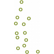 The Good Life: September 2021 Elements Kit- Enamel Dots green 2