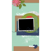 Travelers Notebook Layout Templates Kit #29- Layout Template 29a