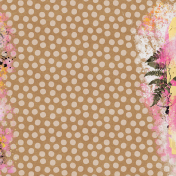Good Life Oct 21_Mixed Media Canvas-Dots Leaves Paint