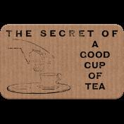 Good Life Oct 21 Collage_Tea Ad Cardboard Sticker