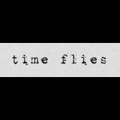 Autumn Art Word Snippet- Time Flies