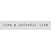 Autumn Art Word Snippet- Colorful Life