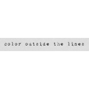 Autumn Art Word Snippet- Outside the Lines
