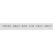 Autumn Art Word Snippet- Rainy Days