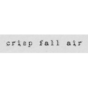 Autumn Art Word Snippet- Crisp Fall Air
