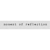 Autumn Art Word Snippet- Moment of Reflection
