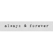 Autumn Art Word Snippet- Always & Forever