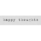 Autumn Art Word Snippet- Happy Thoughts