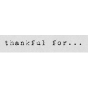 Autumn Art Word Snippet- Thankful For