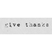 Autumn Art Word Snippet- Give Thanks