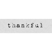 Autumn Art Word Snippet- Thankful