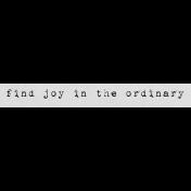 Autumn Art Word Snippet- Find Joy