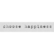 Autumn Art Word Snippet- Choose Happiness