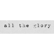 Autumn Art Word Snippet- All the Glory
