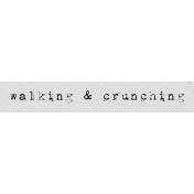 Autumn Art Word Snippet- Walking & Crunching