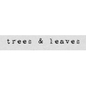 Autumn Art Word Snippet- Trees & Leaves