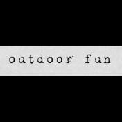 Autumn Art Word Snippet- Outdoor Fun