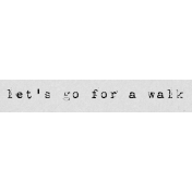 Autumn Art Word Snippet- Let's Go For A Walk
