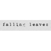 Autumn Art Word Snippet- Falling Leaves