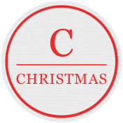Jolly Label- C Christmas
