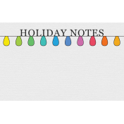 Jolly Label- Holiday Notes