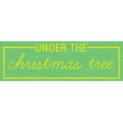 Jolly Label- Under The Christmas Tree