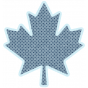 Our House Mini Kit- Spotted Blue Maple Leaf