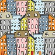 Our House Mini Kit- Cityscape Paper