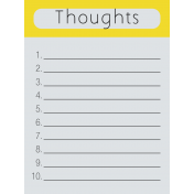 Dream Big- Thoughts Journal Card