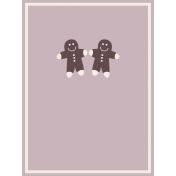 Nutcracker Cards- Gingerbread Men Journal Card