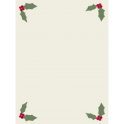 Nutcracker Cards- Holly Corners Journal Card
