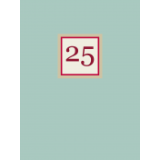 "Nutcracker Cards- ""25"" Journal Card"