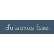 Nutcracker Label- Christmas Love