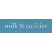 Nutcracker Label- Milk & Cookies
