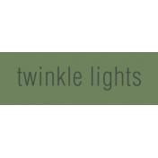 Nutcracker Label- Twinkle Lights