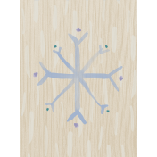Winter Arabesque Snowflake Journal Card