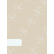 Winter Arabesque Small Snowflake Journal Card