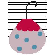 Nutcracker Ornament- Polka Dot