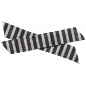Winter Arabesque Bow- Black & White Stripes