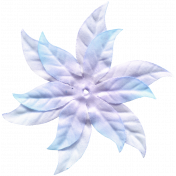 Winter Arabesque Flower- Teal & Purple