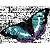 Winter Arabesque Butterfly- Teal