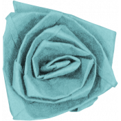 Winter Arabesque Flower- Teal Rose