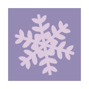 Winter Arabesque Label- Snowflake