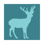 Winter Arabesque Label- Deer