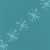 Winter Arabesque Snowflake Paper- Teal
